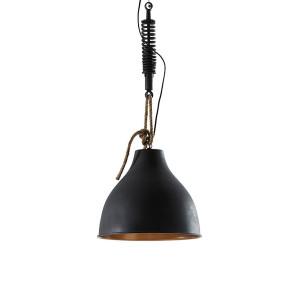 LaForma Industriële hanglamp 'Sadie' zwart