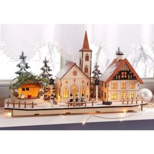 Home affaire kerstdorp houten