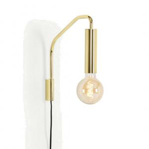 Lennox wandlamp, messing