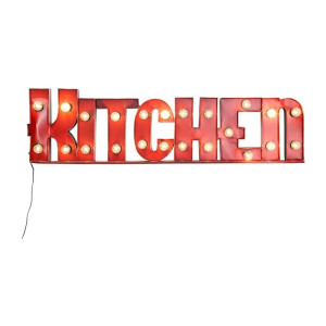 Kare Design Kitchen Letterlamp rood