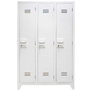 HKliving Locker opbergkast wit