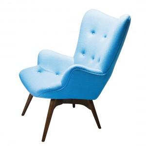 Houten fauteuils loungestoelen online kopen for Ohrensessel hellblau