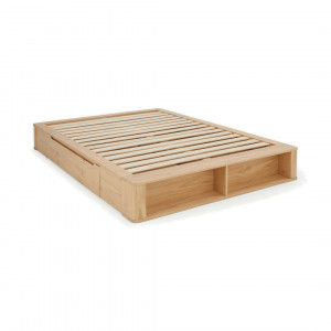 MADE Essentials Kano kingsizebed met opbergruimte, grenen