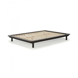 MADE Essentials Kano platform kingsize bed, zwartgebeitst grenen