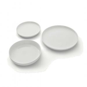 MADE Essentials Leah 12-delige serviesset, porselein en wit
