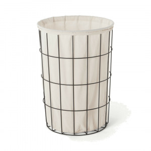 MADE Essentials Moss wasmand, zwart