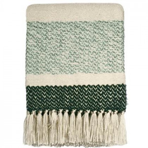 Malagoon Berber Grainy Green Plaid 125 x 150 cm