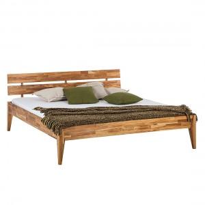 Houten tweepersoons bedden online kopen - Massief houten platform bed ...