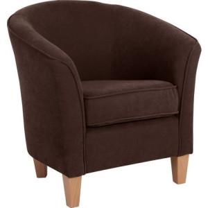 MAX WINZER® fauteuil in rond model Luisa, met houten poten