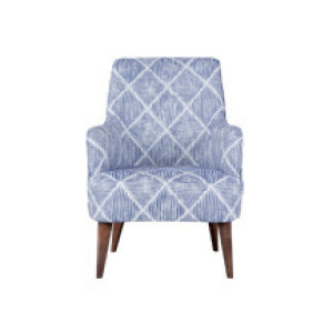 Molly fauteuil, diamand blauwe streep