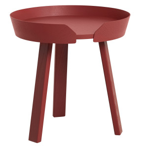 Muuto Around Coffee salontafel small dark red 45