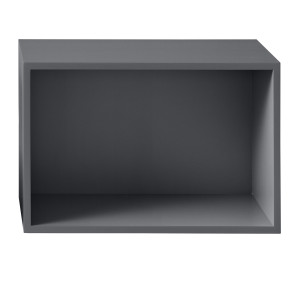 Muuto Stacked kast met backboard large donkergrijs