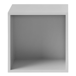 Muuto Stacked kast met backboard medium lichtgrijs