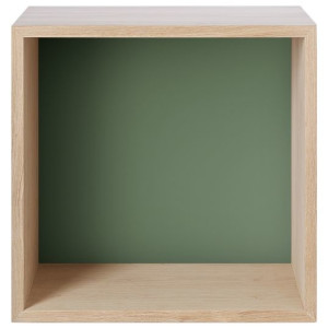 Muuto Stacked kast met backboard medium ash - dusty green