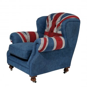 Oorfauteuil Grandfather Union Jack