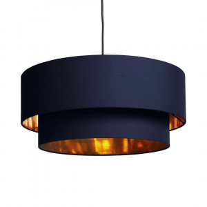 Oro gelaagde hanglampenkap, violetblauw en koper