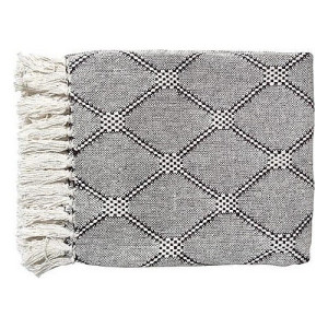 Hkliving Plaid 125 x 150 cm - White Diamonds