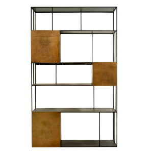 Pols Potten Shelf Unit Double Gold Doors stellingkast
