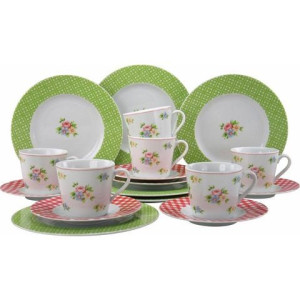 CreaTable koffieservies 'Emely' (18-delig)