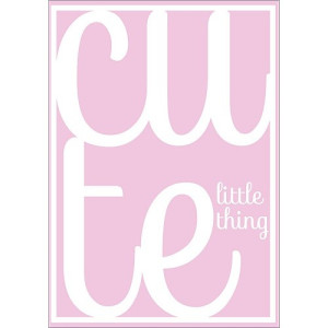 Sparkling Paper Poster Cute Little Thing Roze - A3