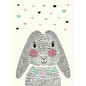Sparkling Paper Poster Mrs Rabbit - A3