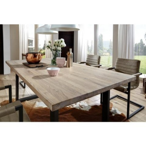 PREMIUM COLLECTION BY HOME AFFAIRE eettafel Brooklyn, van massief wildeiken