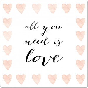 print op glas Confetti & Cream - All you need is love
