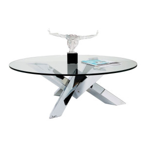 Kare Design Crystal Eco Ronde salontafel glas Crystal Eco