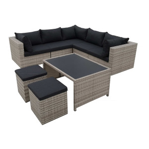 Fonteyn | Loungeset Salou Met Koffietafel | Light Grey