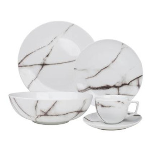 Salt & Pepper Marble Serviesset 20-delig