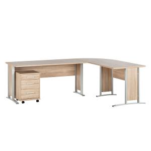 bruine bureaus en computertafels online kopen. Black Bedroom Furniture Sets. Home Design Ideas