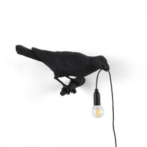 Seletti Wandlamp Bird Looking Right Black