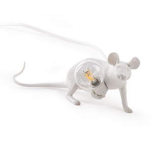 Seletti Mouse Tafellamp Resin Wit - Liggend