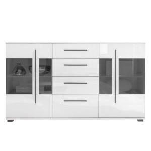 Dressoir Farson - hoogglans wit/wit, roomscape