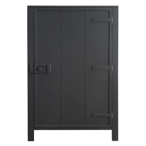 HKliving Single Door opbergkast charcoal