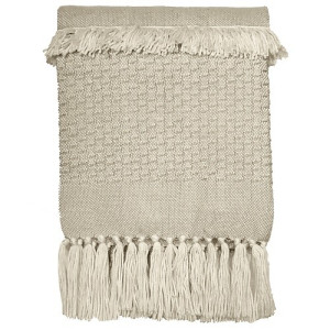 Malagoon Fringe Plaid 125 x 150 cm - Off white