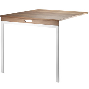 String Klaptafel 78 x 96 cm walnoot/wit