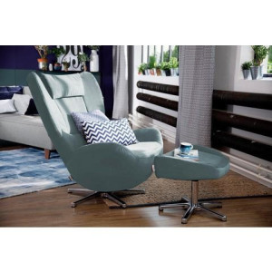 TOM TAILOR loungestoel TOM PURE, met metalen draaivoet