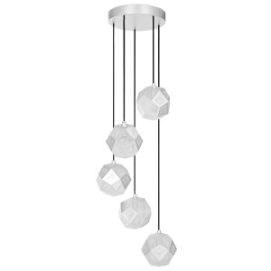 Tom Dixon Etch Mini Chandelier hanglamp soft zilver