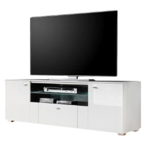 Tv-meubel Arminto- hoogglans wit/wit, roomscape