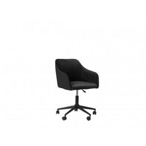 Bureaustoel fluweelstof zwart VENICE