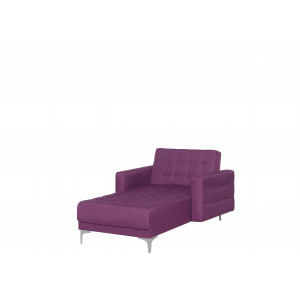 Chaise longue stof paars ABERDEEN