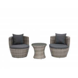 Tuinset wicker grijs CAPRI