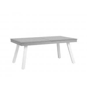 Tuintafel grijs 175/255 x 100 cm uitschuifbaar PERETA