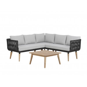 Loungeset acaciahout taupe ALCAMO