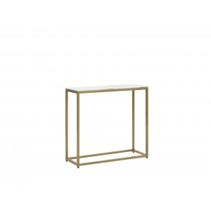 Sidetable marmer-look wit/goud DELANO