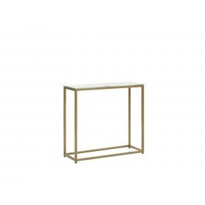 Sidetable marmer-look wit/goud DELANO