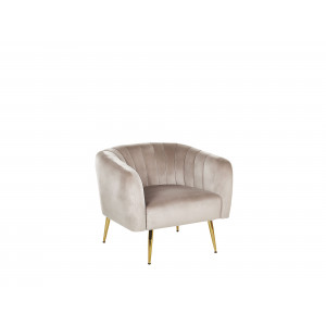 Fauteuil fluweel taupe LACONIA