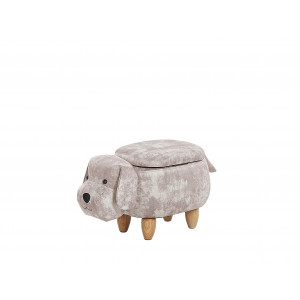 Hocker fluweel beige DOGGY