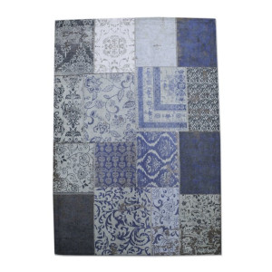 By-Boo Patchwork Vloerkleed Patchwork donkerblauw